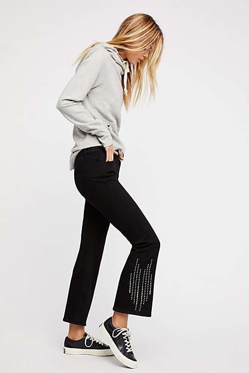 Cole Studded Crop Bell Jeans
