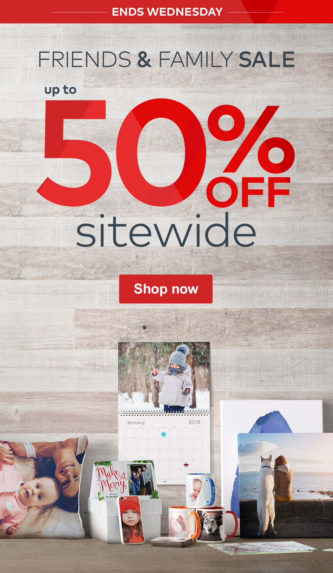 vistaprint friends family sale up to 50 off sitewide don