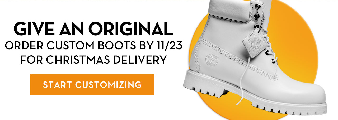 Give An Original Order Custom Boots By 11/23 For Christmas Delivery Start Customizing