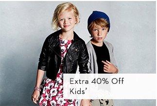 Extra 40% Off Kids'
