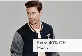 Extra 40% Off Men's