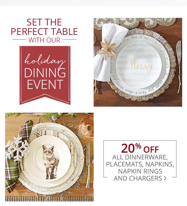 Set the perfect table with our holiday dining event.