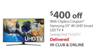 Samsung 55 4K UHD Smart LED TV