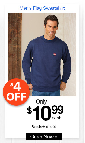 Men's Flag Sweatshirt