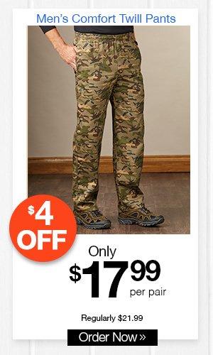Men's Comfort Twill Pants