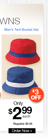 Men's Twill Bucket Hat