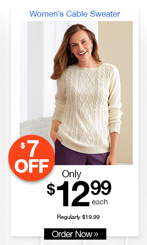 Women's Cable Sweater
