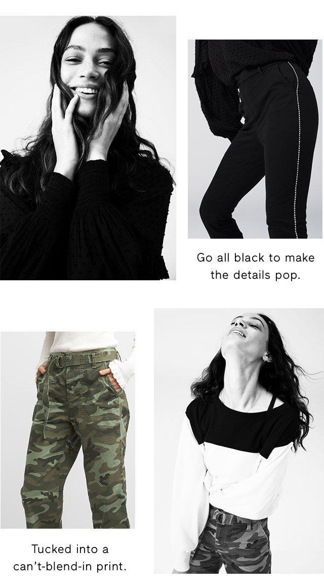 Go all black to make the details pop.