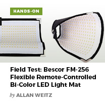 Field Test: Bescor FM-256 Felxible Remote-Controlled Bi-Color LED Light Mat by Allan Weitz