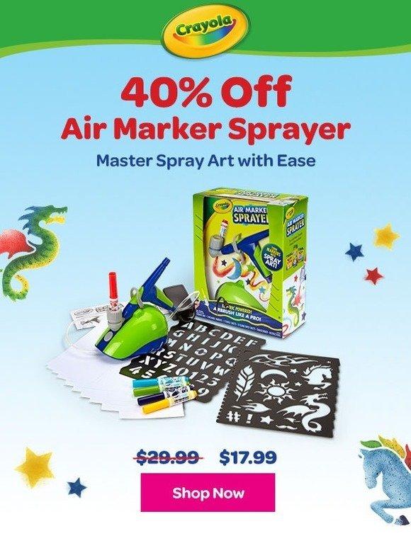 Crayola 40 Off Air Marker Sprayer Milled