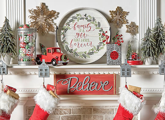 Holiday Decor, Entertaining, Textiles and Candles.  Includes Makers Holiday.