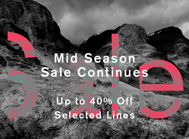 Mid Season Sale Continues - Up to 40% off Selected Lines