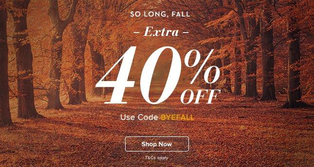 Extra 40% Off
