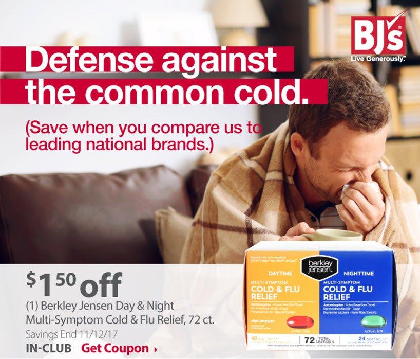 (1) Berkley Jensen Day & Night Multi-Sympton Cold & Flue Relief, 72 ct.