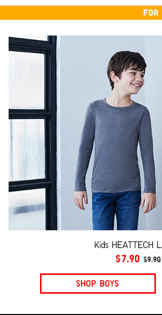 Last day! KIDS HEATTECH  $7.90 - Shop Now