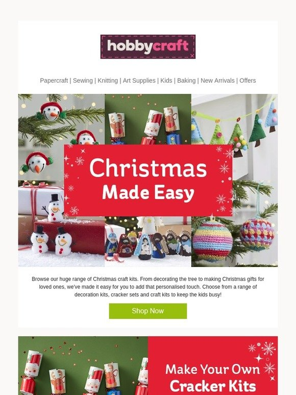 Hobbycraft the perfect kits for a crafty christmas milled solutioingenieria Images