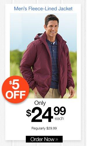 Men's Fleece-Lined Jacket