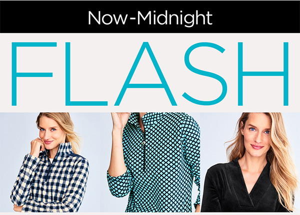 Now-Midnight. Flash 40% Off All T By Talbots