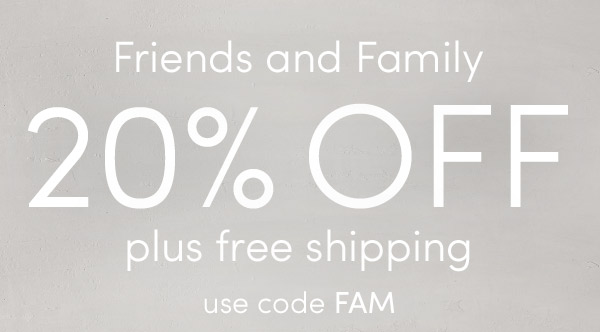 20% off plus free shipping