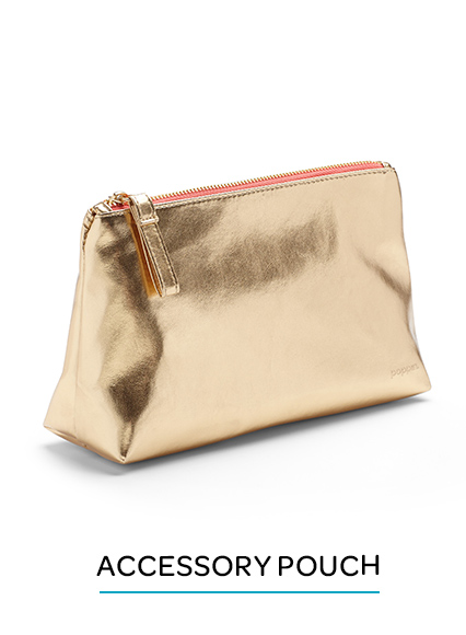 Gold Accessory Pouch