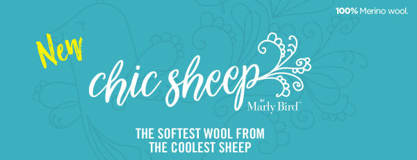 NEW! Chic Sheep by Marly Bird. The softest wool from the coolest sheep. 100 percent Merino wool.