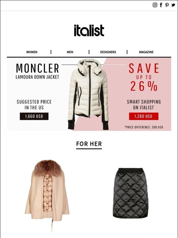 418061a7c62 Italist  Save  380 on Iconic MONCLER Jacket! Winter 2018 Fashion Favorites