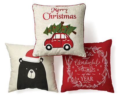 Holiday Pillows.