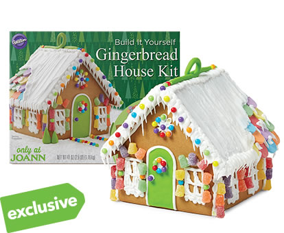 EXCLUSIVE! Wilton Gingerbread Kits.