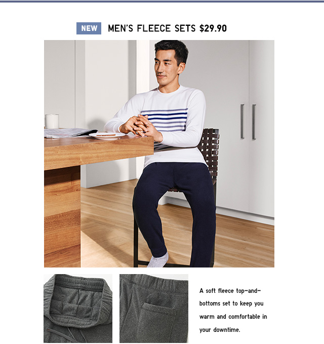 NEW! Fleece Lounge Sets $29.90- Shop Men