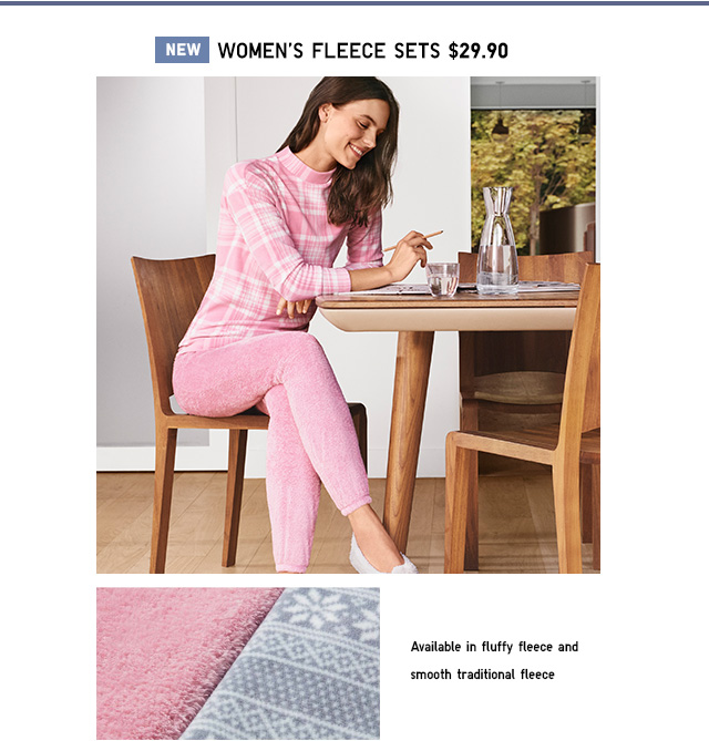 NEW! Fleece Lounge Sets $29.90- Shop Women