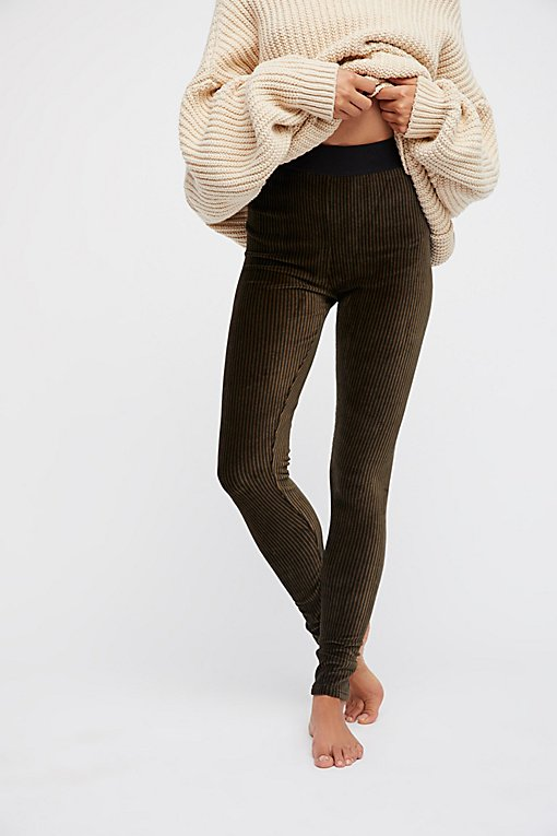 Here We Go Striped Velvet Legging