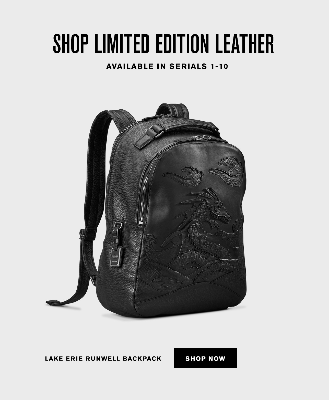 f41f78ab Lake Erie Leather Backpack · Lake Erie Leather Rolled Flap Bag