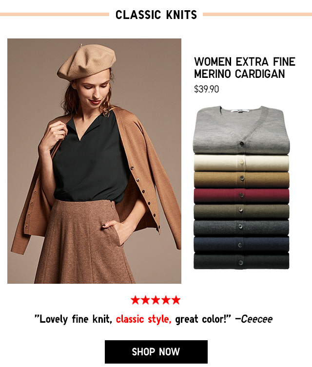 Women Extra Fine Merino Cardigan $39.90 - Shop Now