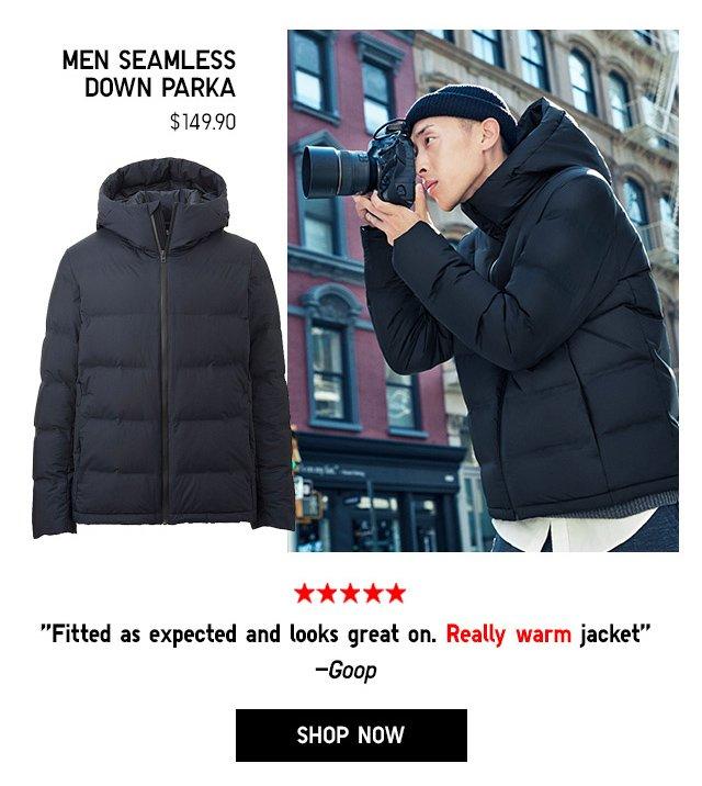Men Seamless Down Parka $149.90 - Shop Now