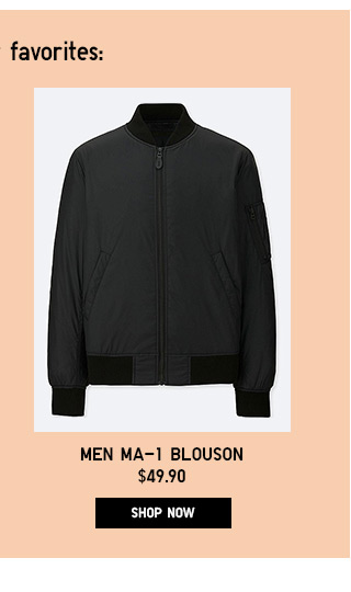 Men MA-1 Blouson - Shop Now