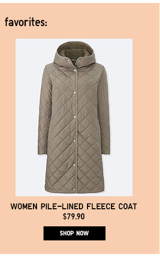 Women Pile-Lined Fleece Coat - Shop Now
