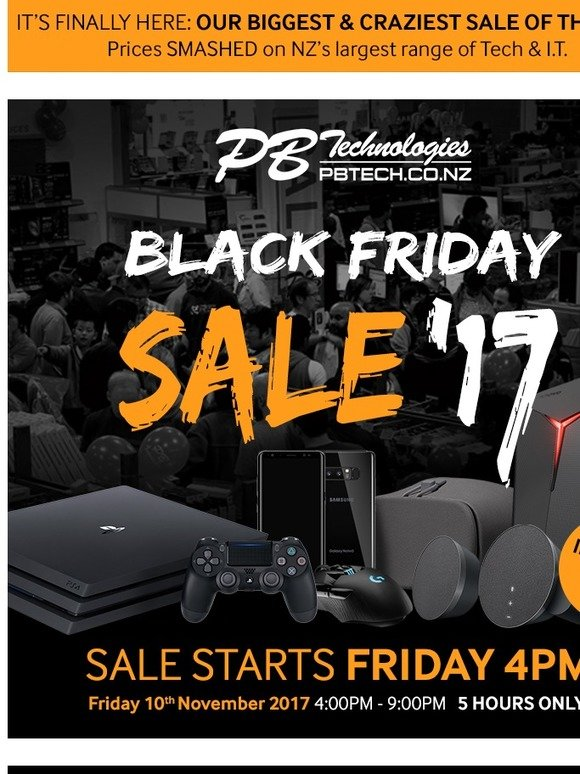 Pb Tech Black Friday 2017 View The Deals Now Milled