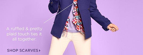 Ivory & Purple + Hot Pink Plaid. Shop Scarves