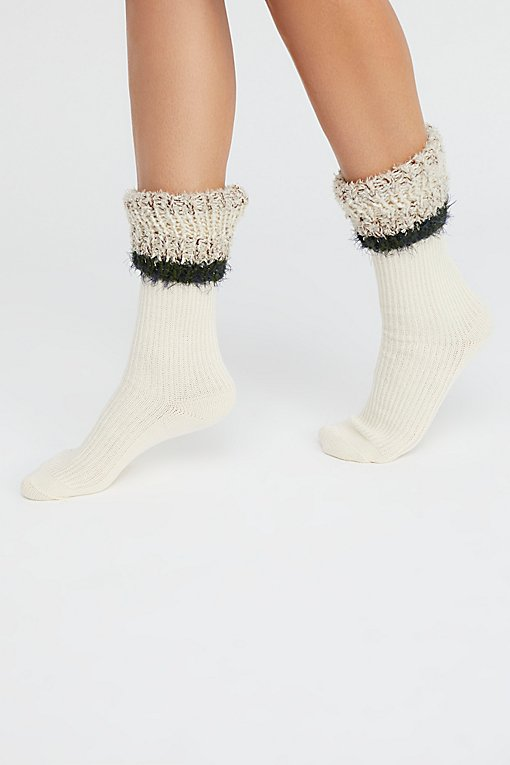 Glacier Book Topper Crew Sock