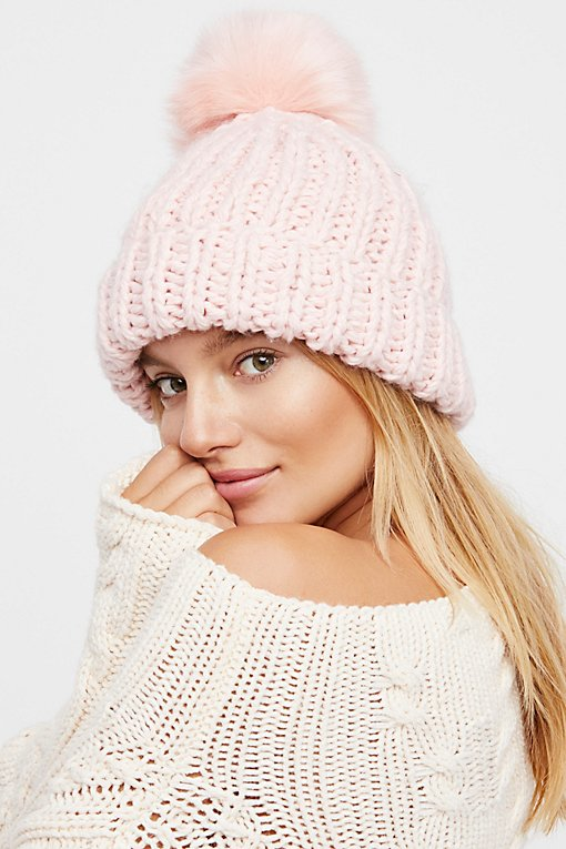 Happy Trails Pom Beanie