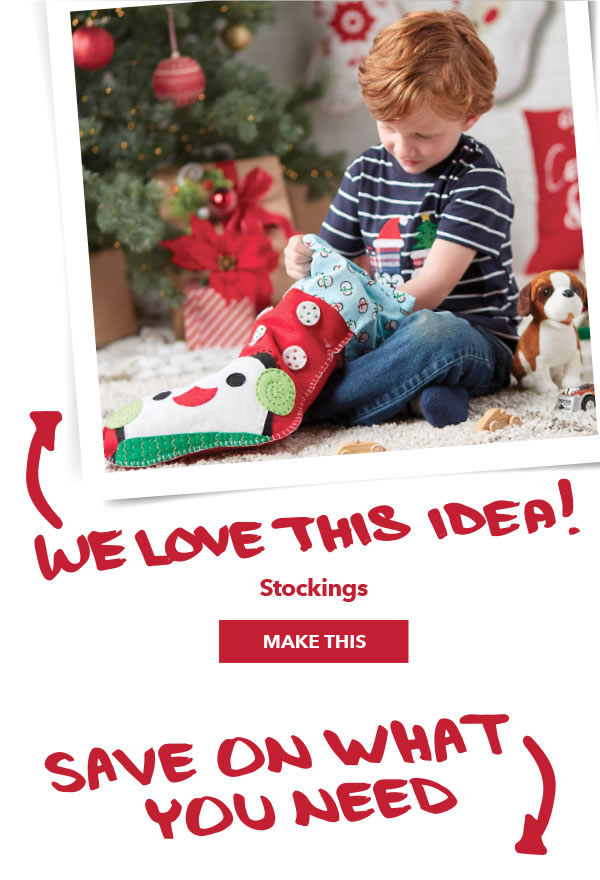 We love this idea! Stockings. MAKE THIS.
