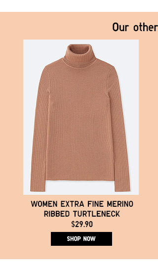 Women Extra Fine Merino Ribbed Turtleneck - Shop Now