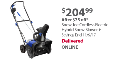 Snow Joe Cordless Electric Hybrid Snow Blower