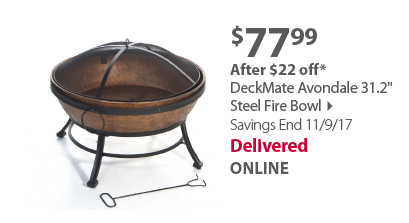 DeckMate Avondale 31.2' Steel Fire Bowl