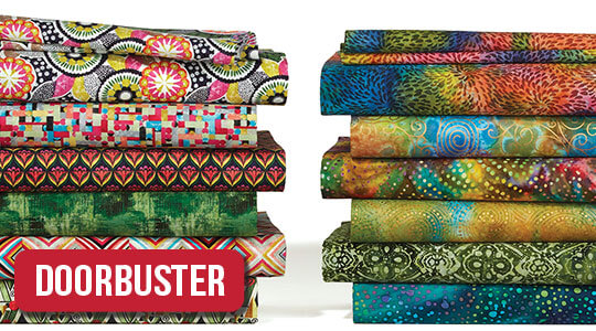 Premium Cotton Prints and Quilter's Batiks.