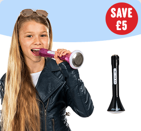 Mi-Mic Microphone Speaker Pink/ Black