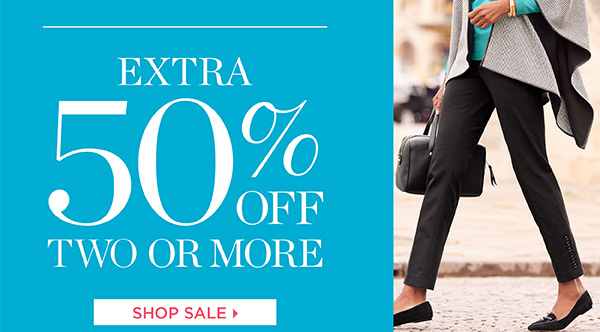 4 Days Only! All markdowns extra 40% off one item. Extra 50% off two or more. Shop Sale