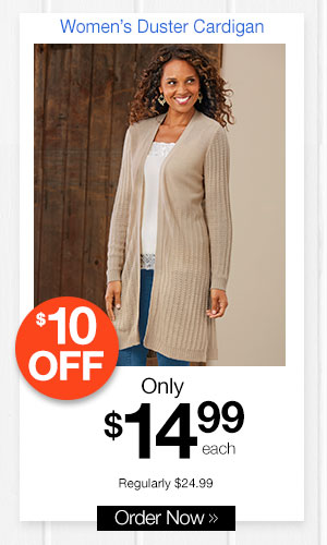 Women's Duster Cardigan