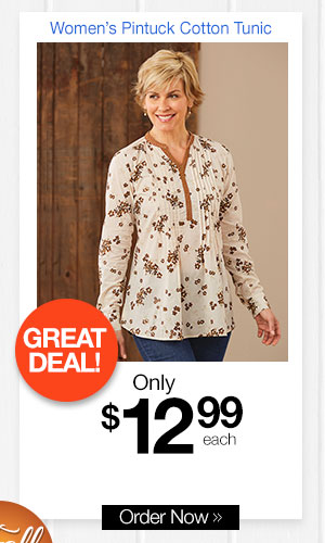 Women's Pintck Cotton Tunic