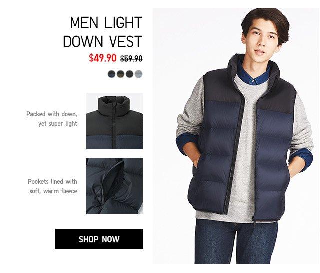 MEN DOWN VEST $49.90 - shop now